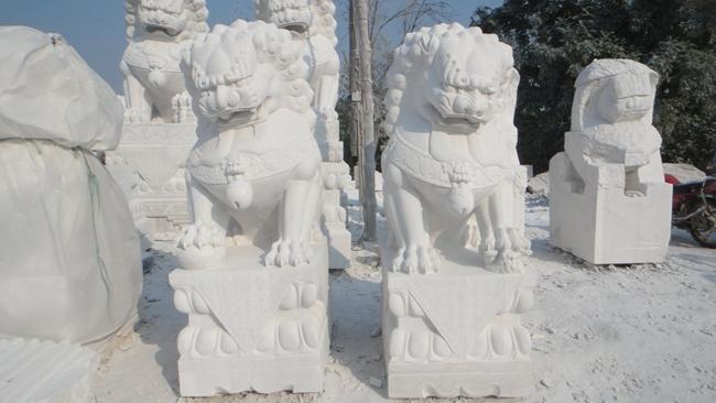 汉白玉石狮子 (17)