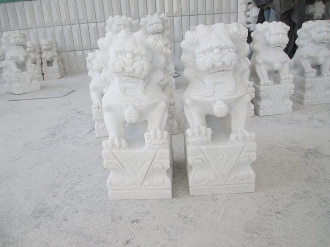 汉白玉石狮子 (12)