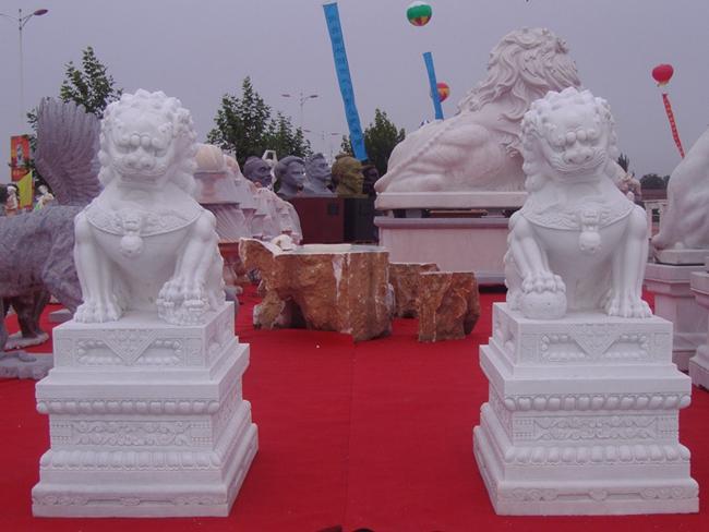 汉白玉石狮子 (4)