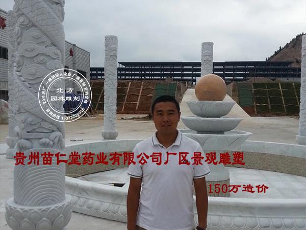 造价150万贵州苗仁堂药业有限公司厂区景观雕塑